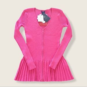 NWT Gorgeous DONCASTER Ribbed Zip Sweater